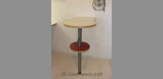 bartisch stehtisch bartresen vigando in weiß mit stauraum und ... - Küche Stehtisch